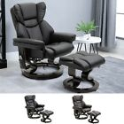 Massage Recliner Chair with Footrest, 10 Vibration Levels, Faux Leather