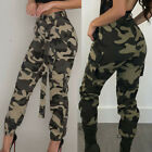 Womens Camo Cargo Trousers Casual Pants Military Army Combat Camouflage Jeans US