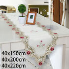 Vintage Embroidered Dining Table Runner Oval Tablecloth Wedding Party Home Decor