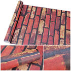 32' 64' 3D Wall Paper Brick Stone Rustic Effect Home Decor Self-adhesive Sticker