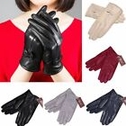 Gloves Women's Genuine Lambskin Leather Solid Winter Warm Driving Soft Lining US