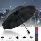 10 Ribs Strong Automatic Open Close Umbrella Folding Compact Windproof Travel    for sale  Shipping to Canada