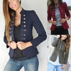 Womens Slim Double Breasted Blazer Suit Long Jacket Overcoat Ladies Outwear Coat