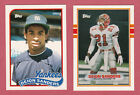 1989 TOPPS TRADED #110T DEION SANDERS BB & #30T FB ROOKIE CARDS LOT 2 CARDS PICK image