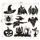 Halloween Witch Series Glass Window Living Room Decoration Wall Stickers Set