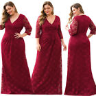 Ever-Pretty Plus Size Floral Lace Long Evening Dress Bodycon Wedding Party Gowns