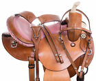 Barrel Saddle 14 Used 15 16 Beautiful Pink Ostrich Trail Western Horse Tack Set