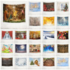 Christmas Baubles Jesus Snow Forest Tapestry Wall Hanging Bedroom Living Room