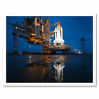 Space Shuttle Sts135 Launch Pad Photograph Wall Art Print Framed 12x16