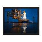 Space Shuttle Sts135 Launch Pad Photograph Framed Wall Art Print 18X24 In