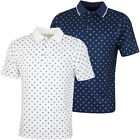 Bobby Jones Mens XH2O Crest Print Poly Pique Golf Polo Shirt 57% OFF RRP