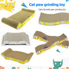 Pet Cat Scratching Toys Wave Shape Corrugated Paper Cat Scratch Board w/Catnip