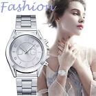 Fashion Women Casual Stainless Steel Mesh Band Quartz Analog Wrist Watches Gift image