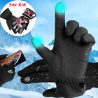 Winter Touch Screen Gloves Windproof Thermal Warm Men Women XL+Kids Boys Gloves