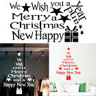 Wall Sticker Shop Window Living Room Christmas Letters Party Home Decorations
