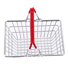 Mini Shopping Basket Kids Play Toy Cart Supermarket Desk Tidy Storage Chrome LP