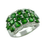 Chrome Diopside 4.78 Ct. Eternity Women Ring 925 Silver occasion Gift Jewelry