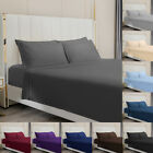 4 Piece Bed Sheet Set 1800 Count Egyptian Bed Sheet Deep Pocket Full Queen King image