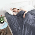 Heavy Weighted Blanket 60''x80'' 20lb Reduce Stress Promote Deep Sleeping Grey image