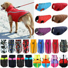 Waterproof Pets Dog Clothes Warm Rain Coat Padded Vest Jacket Reflective Apparel