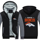 Denver Broncos Team Hoodie Fleece zip up Coat Winter Warm Jacket Sweatshirt $40.99 USD on eBay