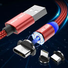 2/3M Magnetic Type-C Micro USB Fast Charging Adapter Cable For Samsung Huawei LG