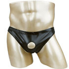Men Sexy Leather Sissy Jockstrap Briefs Pouch Thong G-string Underwear Underpant