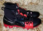 UNDER ARMOUR C1N MC Black Red Silver TD Molded Football Cleats NEW Mens Sz 8.5