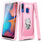 For Samsung Galaxy A10E A20 A30S A50 Case Metal Magnetic Ring Stand Phone Cover
