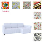 Custom Made Cover Fits IKEA Manstad Sofa Bed with Chaise, Patterned fabrics