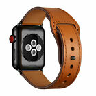 For Apple Watch Series 5 4 3 2 1 Genuine Leather Band Strap iWatch 38/42/40/44mm