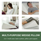 Acid Reflux Foam Bed Wedge Pillow Leg Elevation Back Lumbar Support Cushions image