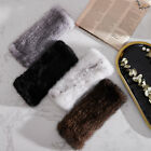 Double Side 100 Real Mink Fur Gloves Knitted Fingerless Elastic Mittens Sleeves