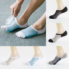5Pairs Men's Anti-Slip Loafer Boat Socks Low Cut Invisible Socks Warm Cotton