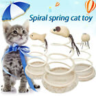 0A8F Small Fish Spring Cat Toy Funny Cat Toy Interactive Playing Sturdy