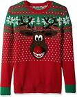 Ugly Christmas Sweater Company Men's Assorted Animals and Reindeer Crew Neck Xma