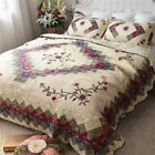 Jameswish Ethnic Embroidery Patchwork Quilt Sets Elegant Classic Reversible Quil image