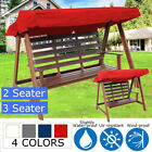 2 & 3 Seater Garden Swing Chair Replacement Patio Canopy Spare Fabric Cover !