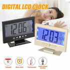 Digital Electric Alarm Clock LED Control Loud Snooze Display Voice Table Clock