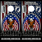Cornhole Wraps American Eagle Flag Military Vet POW Dog Tags Vinyl Decals Skins