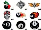 Eight Ball Billiards Pool 8 Snooker Sew/Iron On Patch Embroidered Applique-Store £2.55 GBP on eBay