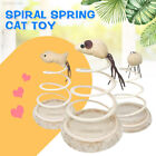 F5E4 Small Fish Elastic Spring Mouse Funny Cat Toy Kitten Bottom Sucker Sturdy