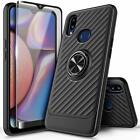 For Samsung Galaxy A10s / A20s Hybrid Case Ring Stand Cover + Tempered Glass