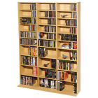 Adjustable Shelf Multimedia Wood Storage Wall Cabinet Bookcase DVD CD Blu-ray