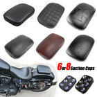 Motorcycle Rear Fender Passenger Suction Pad Pillion Seat For Harley Universal  image