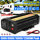 2000-12000W Peak Car Power Inverter DC 12V To AC 110V/220V 5V USB Converter Tool