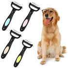 EE_ Pet Dog Cat Double-sided Grooming Comb Brush Rake Fur Trimming Hair Remover