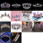 14 Styles Purple Crystal Queen Princess Tiara Crown Wedding Party Pageant