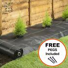 ULTRA STRONG Weed Control Ground Cover Fabric with FREE Pegs | 1m - 5m Wide