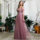 Ever-Pretty US Cold Shoulder Long Sequins Evening Dress A-Line Holiday Prom Gown